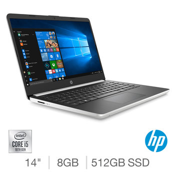 HP, Intel Core i5, 8GB RAM, 512GB SSD, 14 Inch Laptop, 14s-dq1009na