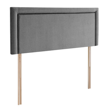 Silentnight Malvern Slate Grey Fabric Headboard in 4 Sizes