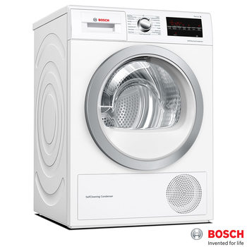 Bosch WTW85493GB, 8kg Heat Pump Condenser Dryer A++ Rating in White