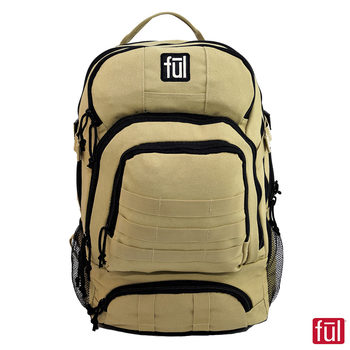 FUL Squad Tactical Laptop Backpack in Sand
