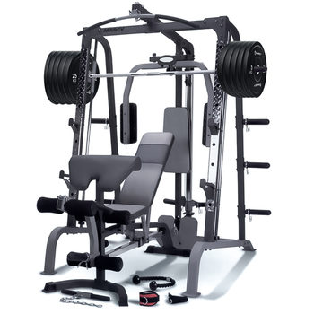 Marcy SM4000 Deluxe Smith Machine and Bench with 150kg Olympic Weight Set