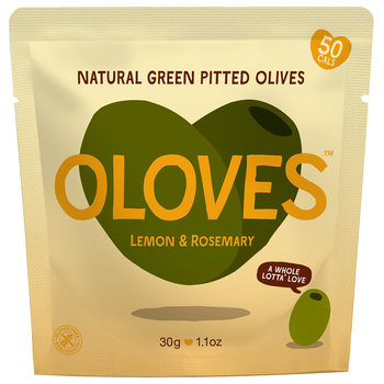 Oloves Lemon & Rosemary Natural Green Pitted Olives, 20 x 30g