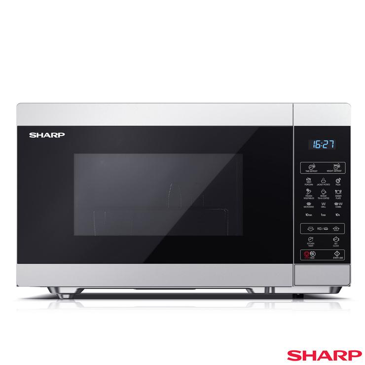 Sharp YC-MG81U-S, 28L Grill Microwave In Silver