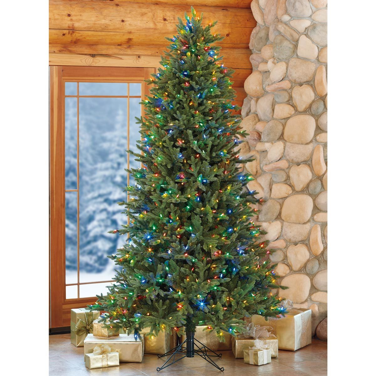 Aspen 7ft 6 Inches 2 3 M Pre Lit 700 Led Dual Colour Lights Artificial Christmas Tree Costco Uk