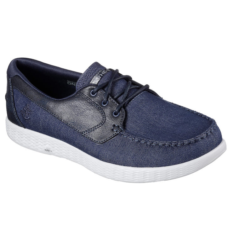 35b9d4a6dd37 Skechers On the GO Glide Men s Shoes Available in Navy and 3 Sizes ...
