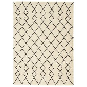 Martil Cream Moroccan Shag Rug in 2 Sizes