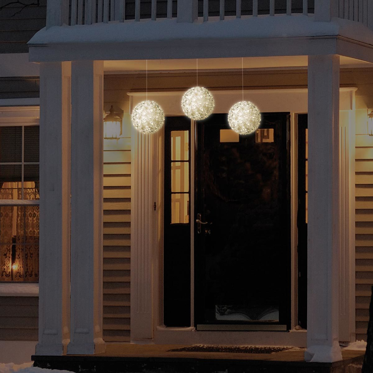 Super Bright White 150 Led Light Sphere Christmas Decoration 3 Pack Costco Uk