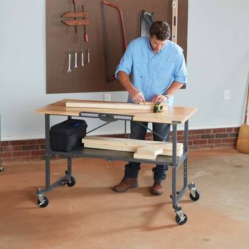 Cosco SmartFold Portable Workbench with Butcher Block Top