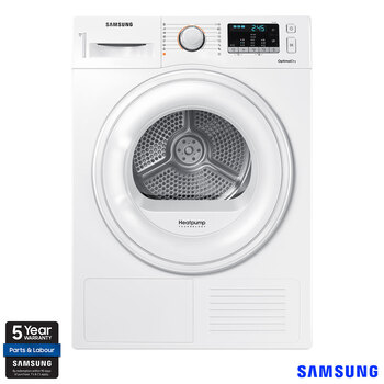 Samsung DV80M50101W/EU, 8kg, Heat Pump Tumble Dryer A++ Rating in White