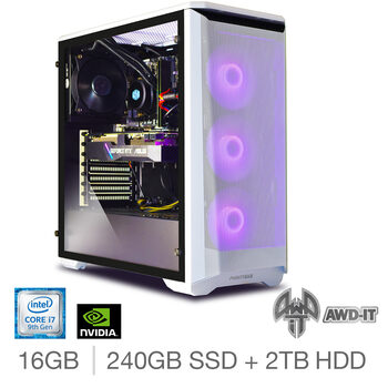 AWD-IT Fury 7, Intel Core i7, 16GB RAM, 240GB SSD  + 2TB HDD, NVIDIA RTX 2060 Super, Gaming Desktop PC