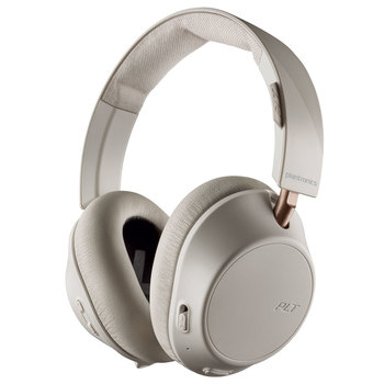 Plantronics BackBeat Go 810 Wireless Active Noise Cancelling Over Ear Headphones in White