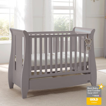 Tutti Bambini Katie Cot Bed in Grey with Sprung Mattress