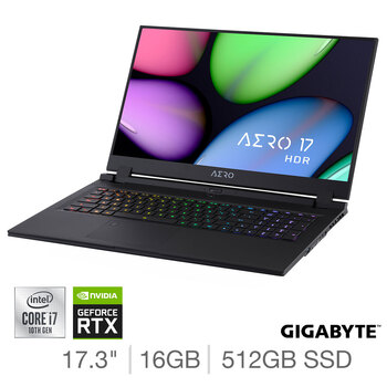 Buy Gigabyte AERO, Intel Core i7, 16GB RAM, 512GB SSD, NVIDIA GeForce RTX 2070 Super Max Q, 17.3 Inch Gaming Laptop, 17 HDR XB-8UK4130SP at costco.co.uk