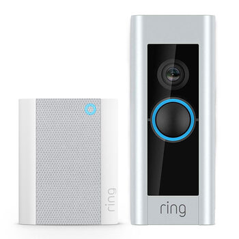 Cut out image of doorbell and chime on white background