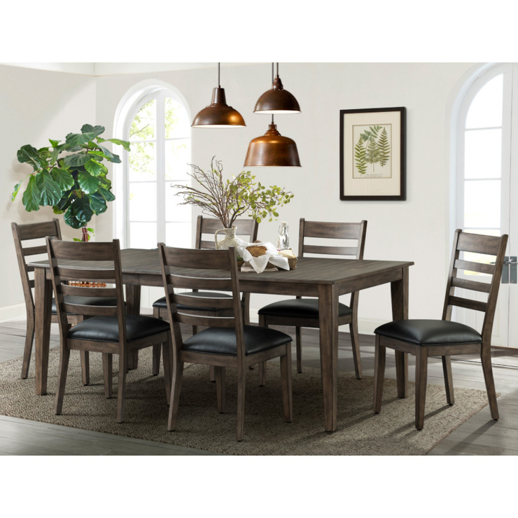 Imagio Home Solid Wood Extending Dining Room Table + 6 Chairs