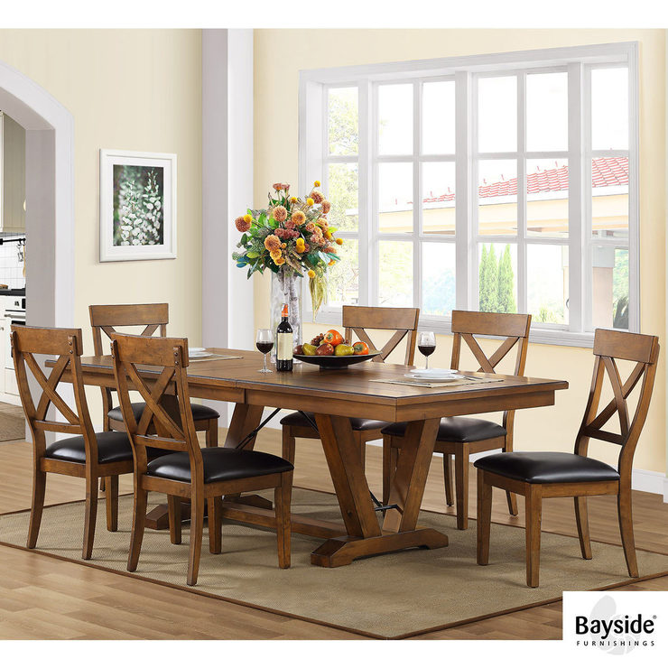Amazing Bayside Furnishings Dining Room Table 6 Chairs Costco Uk Download Free Architecture Designs Intelgarnamadebymaigaardcom