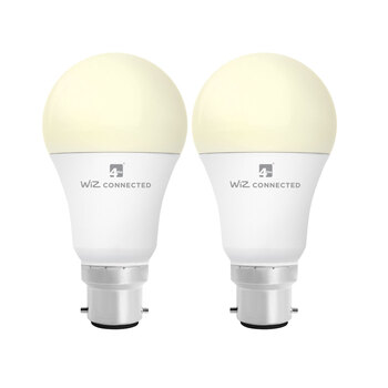 4lite WiZ Connected B22 White Smart Bulbs, 2 Pack