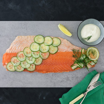 Coln Valley Poached Scottish Salmon Dressed with Smoked Salmon, 1.1kg (Serves up to 15)
