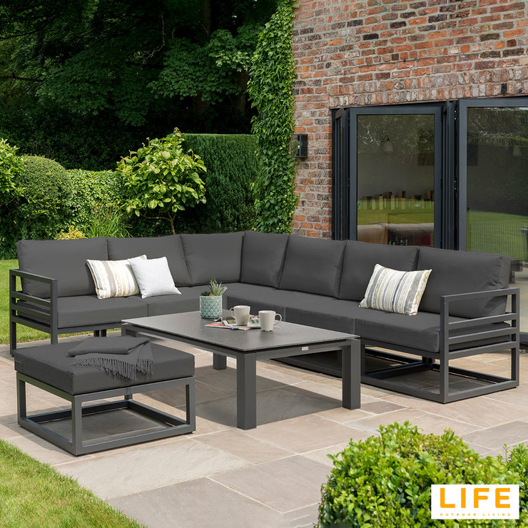 LIFE Outdoor Living Albury Aluminium 3 Piece Corner ... on Outdoor Living Life id=70389