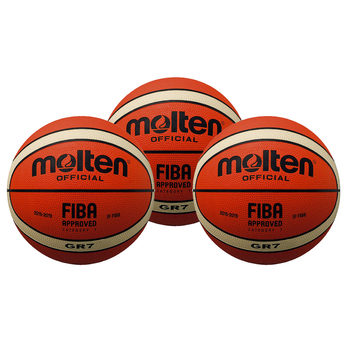 Molten BGR7-01 FIBA Approved Basketball (Size 7) - Pack of 3
