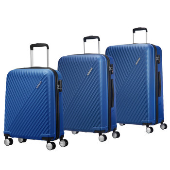 American Tourister Visby 3 Piece Hardside Suitcase Set, Blue