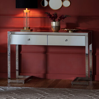 Gallery Fordwich 2 Drawer Mirrored Console Table