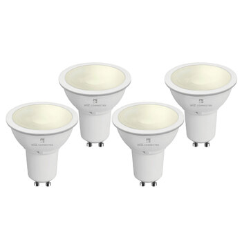 4lite WiZ Connected GU10 White Smart Bulbs, 4 Pack