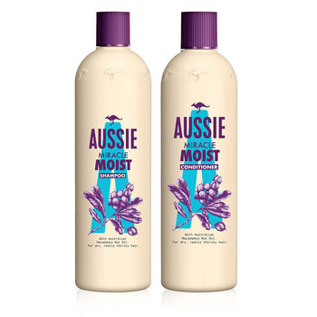 Aussie Miracle Moist Shampoo 750ml and Conditioner 725ml