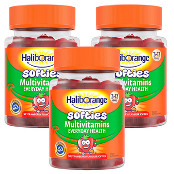 HalibOrange Softies Strawberry Mutivitamins, 3 x 30 Count