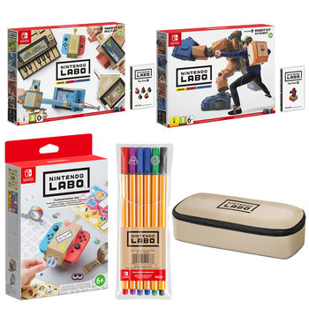 Nintendo Labo MEGA BUNDLE, includes Robot Kit, Variety Kit, Customisation Kit, Market set and Pencil case