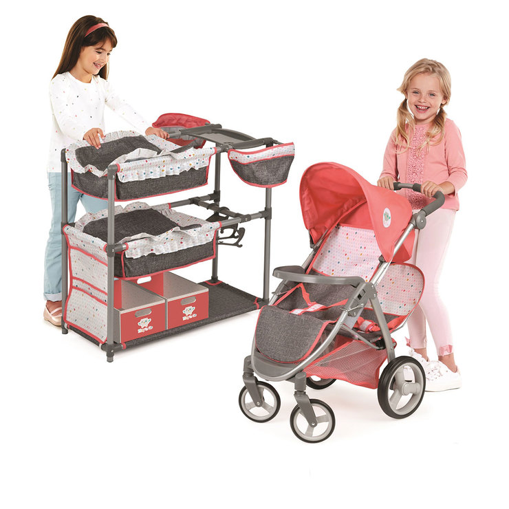 Hauck Play 'N' Go Twin Doll Play Set Stroller And Play ...