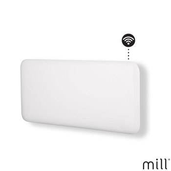 Mill Heat 1.5kW Electric WiFi Controlled Steel Panel Heater in White, NE1500WIFI