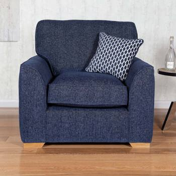 Lorna Navy Fabric Armchair
