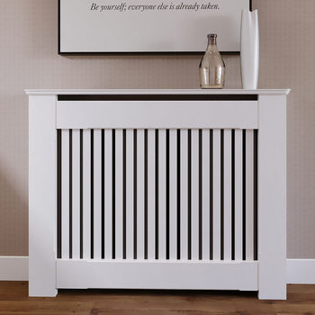 Empire Radiator Cabinet with Vertical Slats (105 x 85 x 18cm)