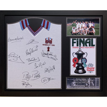 West Ham United Signed Framed 1980 Football Shirt