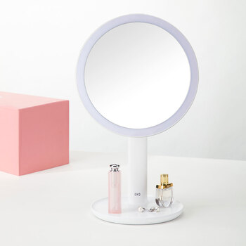 EKO iMira 5x Magnifying Mini Mirror, White