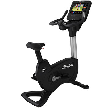 Installed Life Fitness Commercial Grade Elevation Series Upright Bike with Discover ST Console
