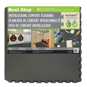 Best Step® Microban® Interlocking Comfort Flooring (610 x 610 x 12mm) - 9 Pack