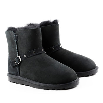 Cozy Mate Kid's Shearling Buckle Boot in 3 Colours and 7 Sizes