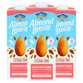 Blue Diamond Unsweetened Almond Drink, 3 x 1L