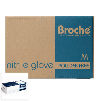Broche Nitrile Gloves Medium (Case), 10 x 100 Pack