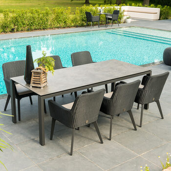 4 Seasons Outdoor Villamora 7 Piece Patio Dining Set