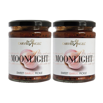 The Carved Angel Moonlight Sweet Garlic Pickle Dual, 2 x 325g