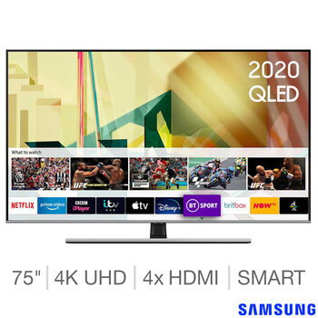 Samsung 75 Inch QLED 4K Ultra HD Smart TV