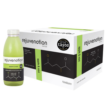 Rejuvenation Water Apple & Mint Amino Acid Enriched Spring Water, 12 x 500ml