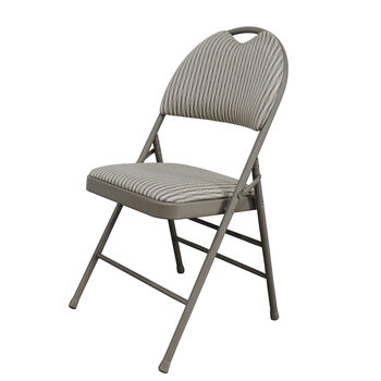 L'Image High Back Steel Padded Fabric Folding Chair