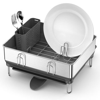 simplehuman Stainless Steel Frame Compact Dishrack