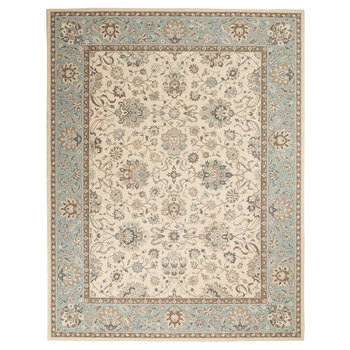 Living Treasures Azure Bordered Rug in 2 Sizes