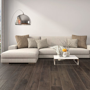 Golden Select Domingo (Dark Oak) Laminate Flooring with Foam Underlay - 1.16 m² Per Pack