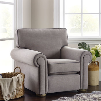 Henley Steel Grey Fabric Armchair